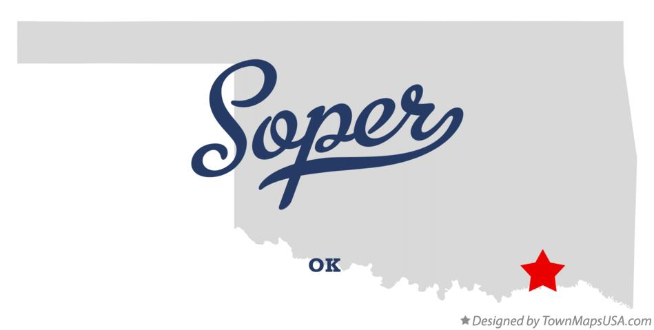 Map of Soper Oklahoma OK