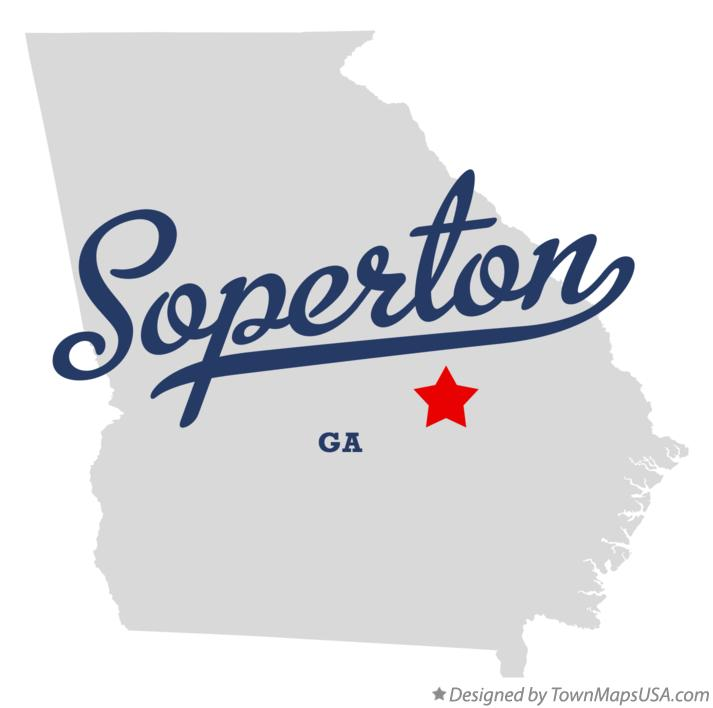 Map of Soperton Georgia GA