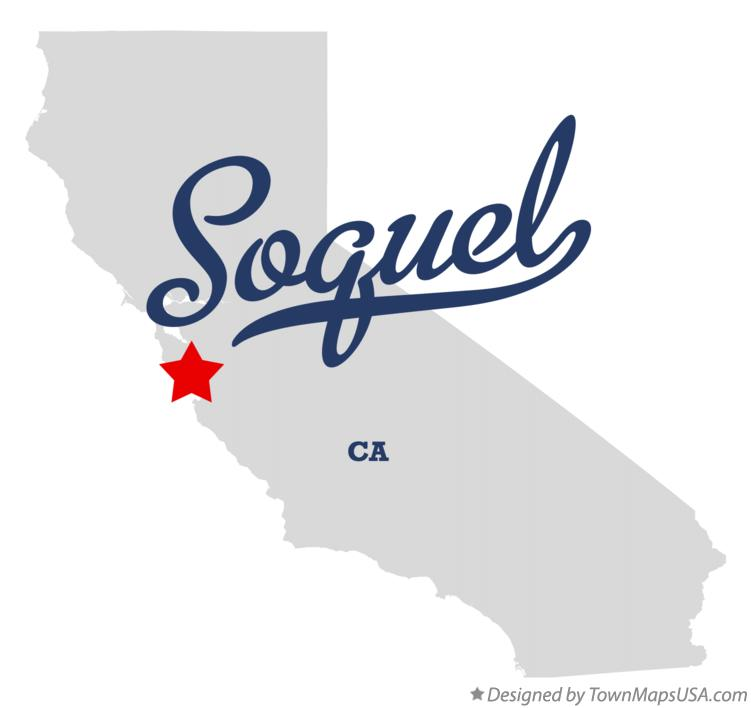 Map of Soquel California CA