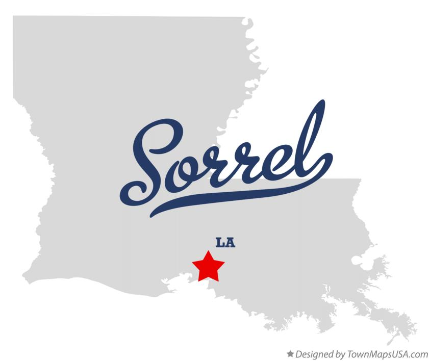 Map of Sorrel Louisiana LA