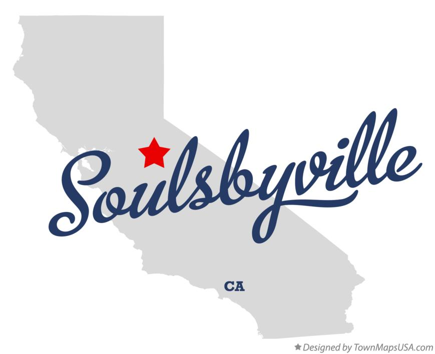 Map of Soulsbyville California CA