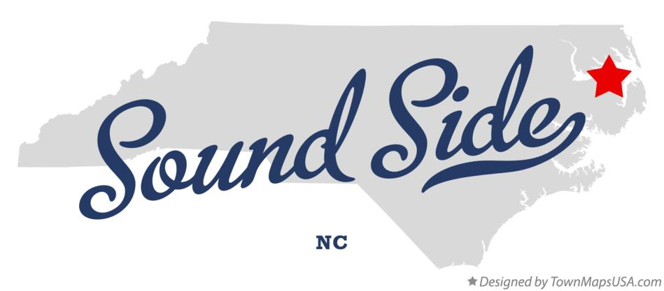 Map of Sound Side North Carolina NC