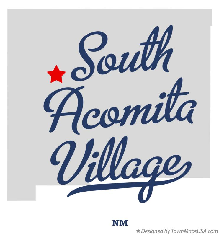 Map of South Acomita Village New Mexico NM