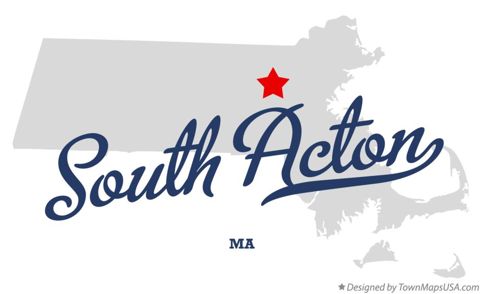 Map of South Acton Massachusetts MA