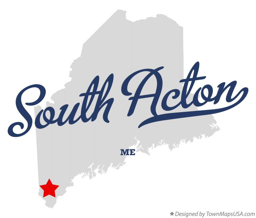 Map of South Acton Maine ME