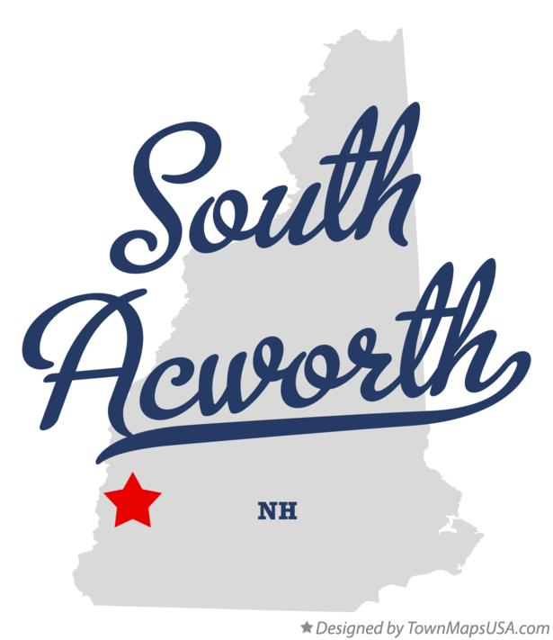 Map of South Acworth New Hampshire NH