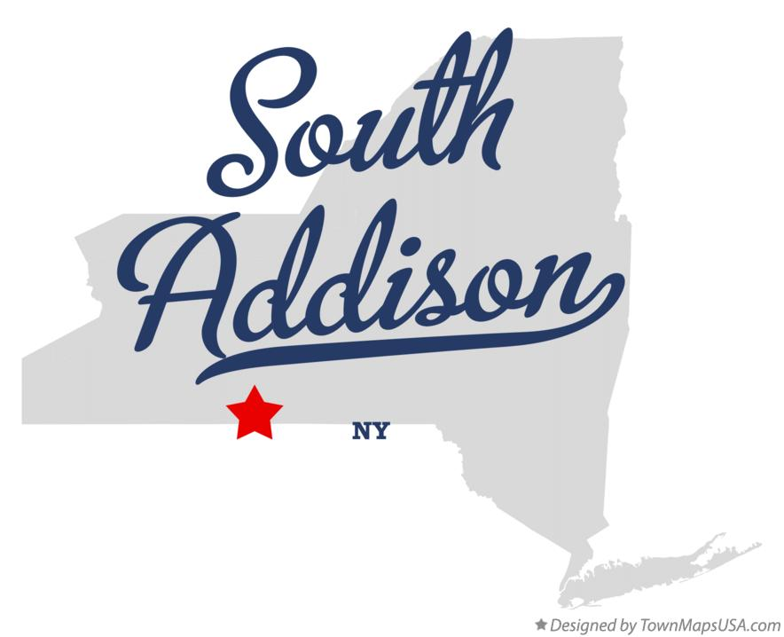 Map of South Addison New York NY