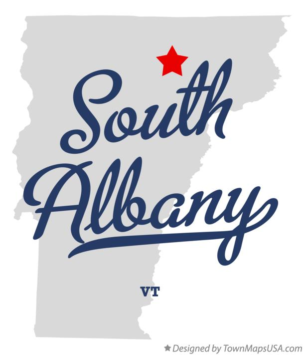 Map of South Albany Vermont VT