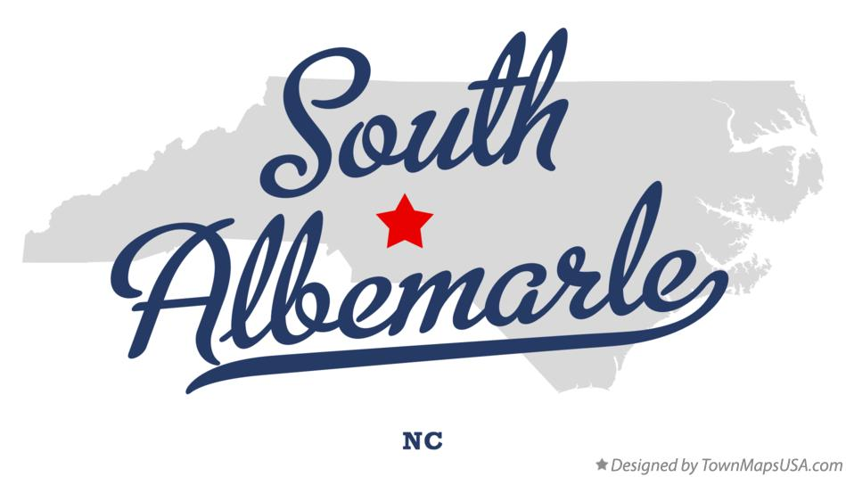 Map of South Albemarle North Carolina NC