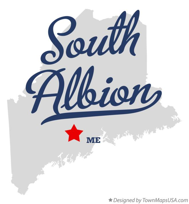 Map of South Albion Maine ME