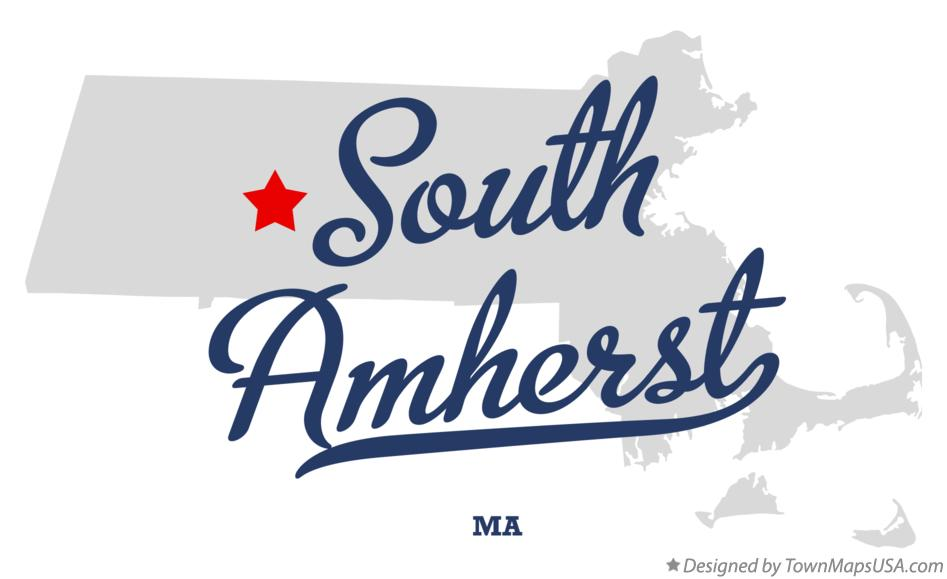 Map of South Amherst Massachusetts MA