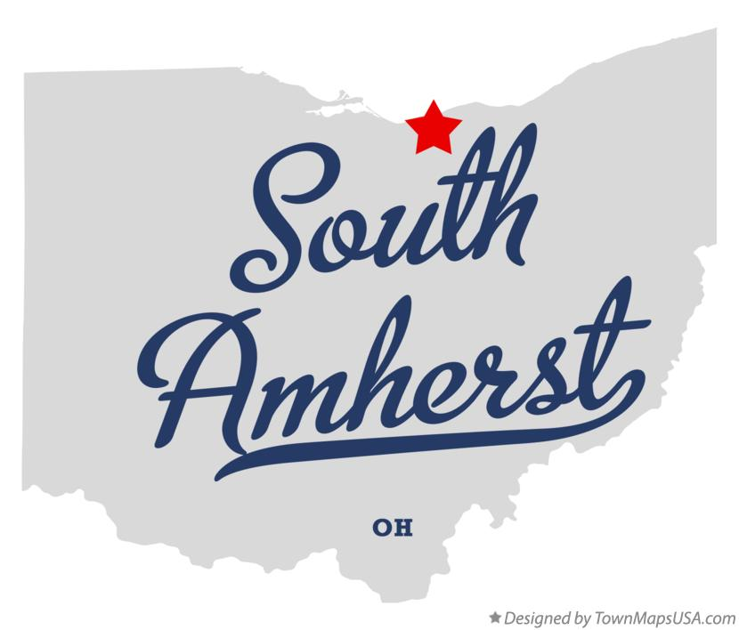 Map of South Amherst Ohio OH