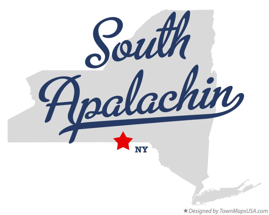Map of South Apalachin New York NY