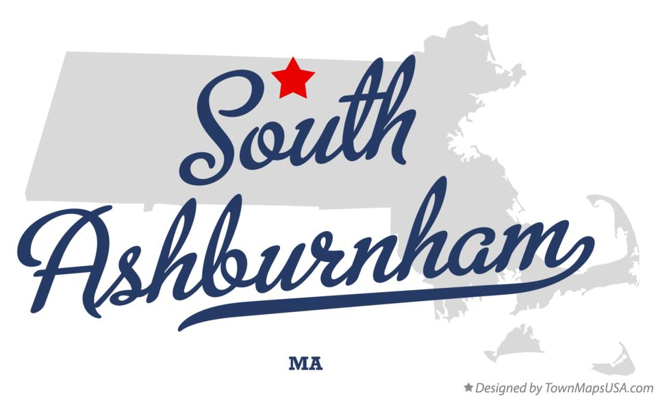 Map of South Ashburnham Massachusetts MA