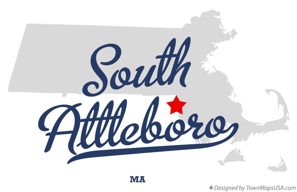 Map of South Attleboro Massachusetts MA
