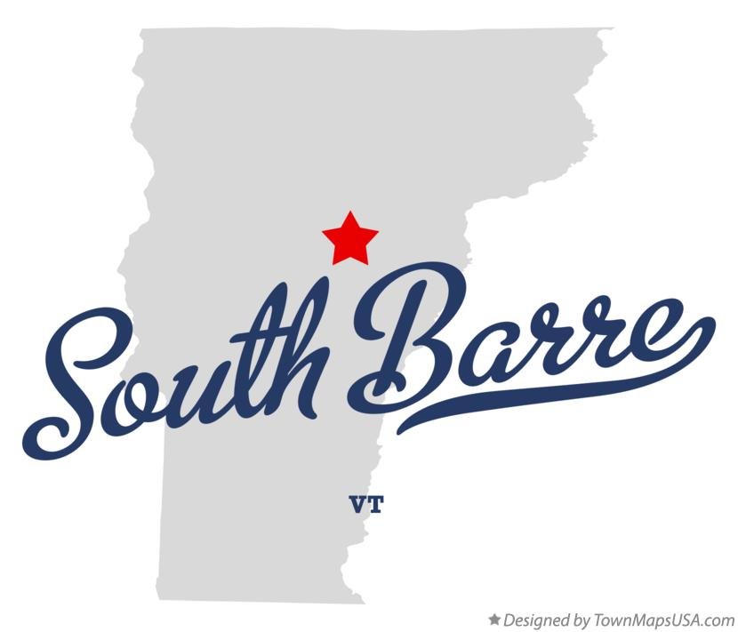 Map of South Barre Vermont VT