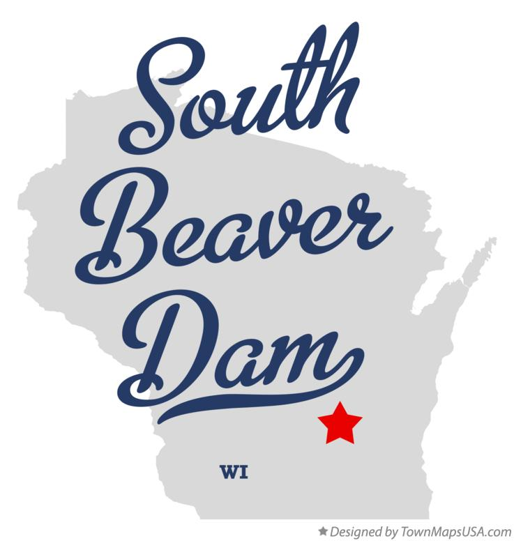 Map of South Beaver Dam Wisconsin WI
