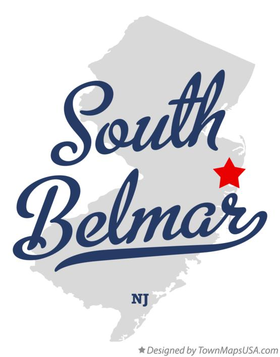 Map of South Belmar New Jersey NJ