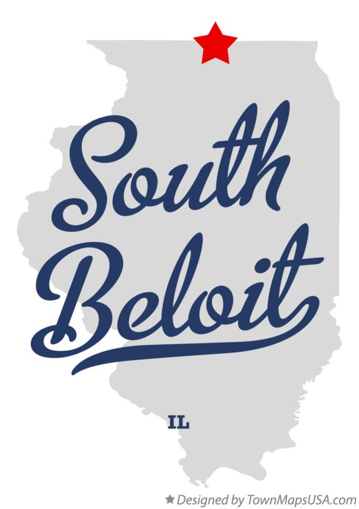 Map of South Beloit Illinois IL