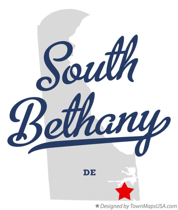 Map of South Bethany Delaware DE