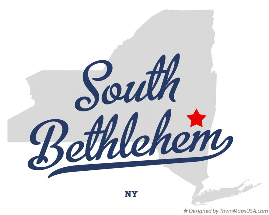 Map of South Bethlehem New York NY