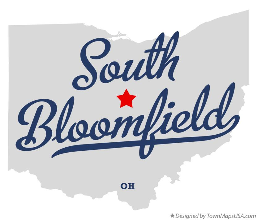 Map of South Bloomfield Ohio OH