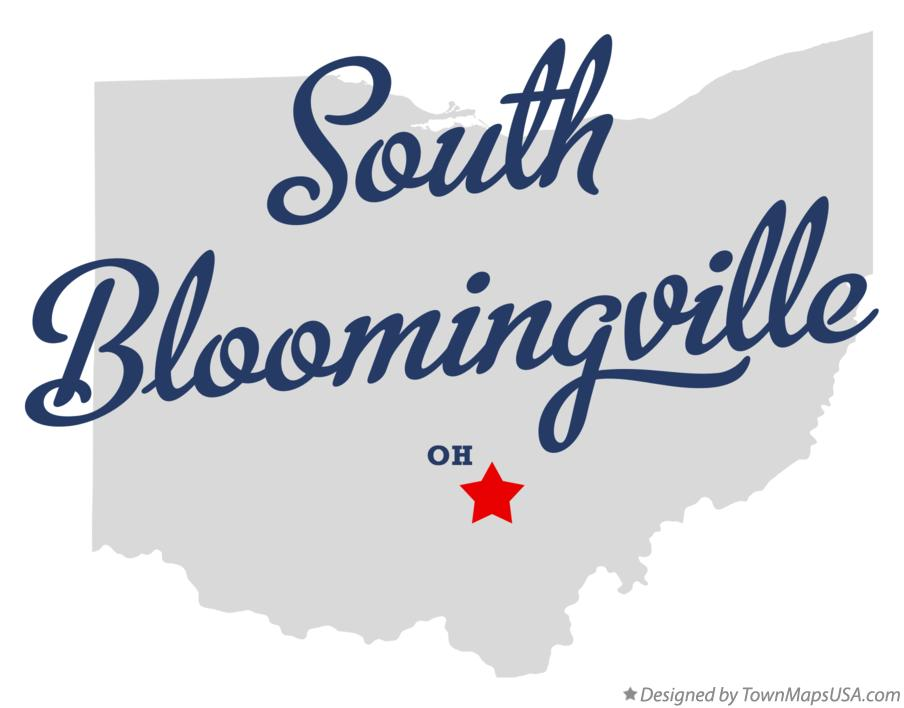 Map of South Bloomingville Ohio OH