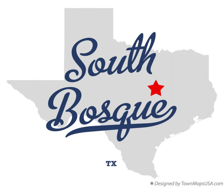 Map of South Bosque Texas TX