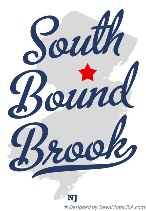 Map of South Bound Brook New Jersey NJ