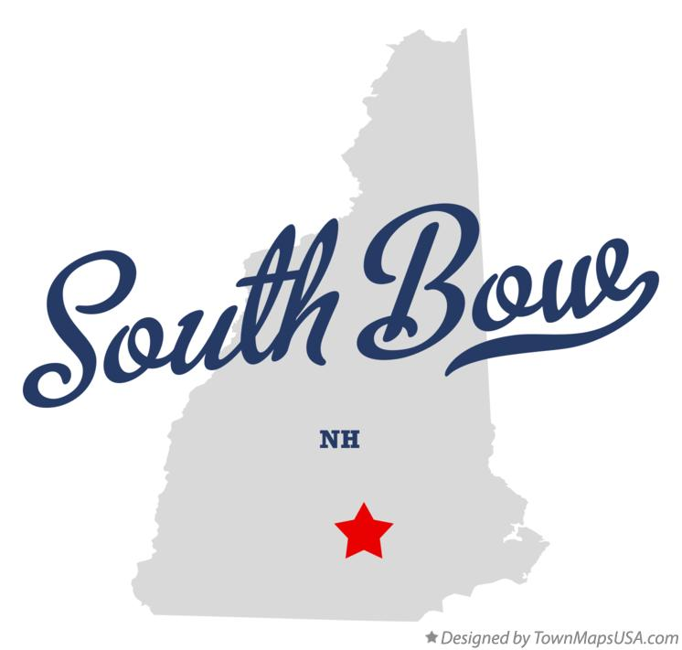 Map of South Bow New Hampshire NH