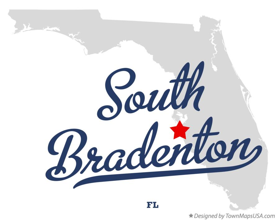 Map of South Bradenton Florida FL
