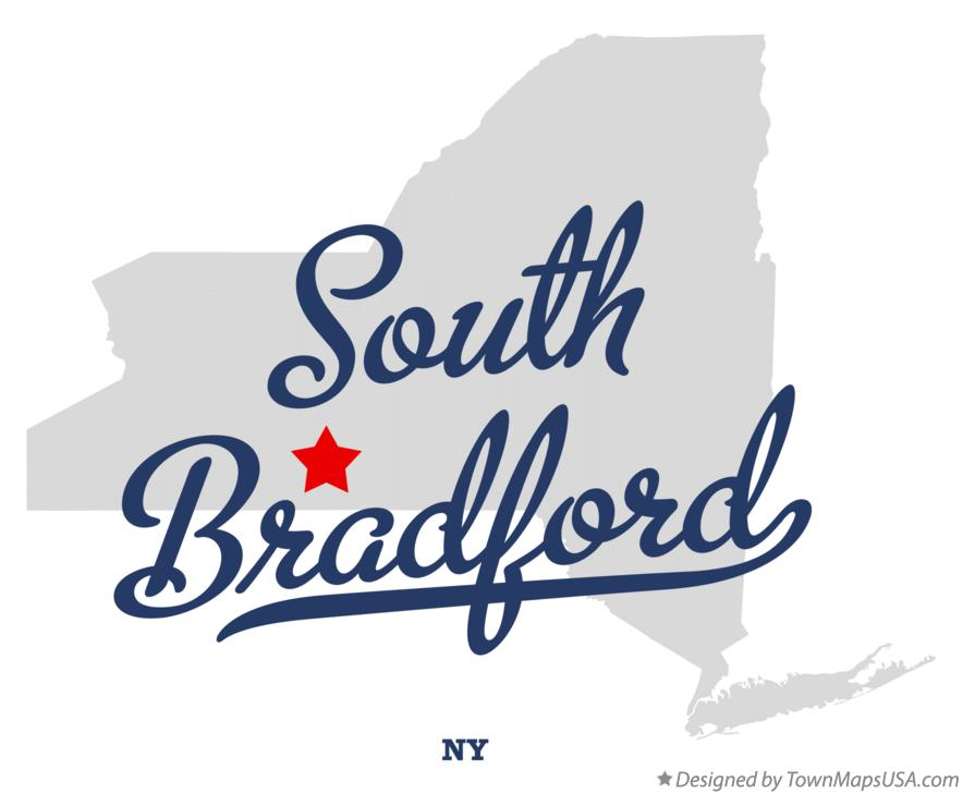 Map of South Bradford New York NY