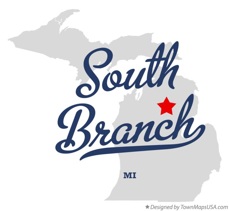 Map of South Branch Michigan MI