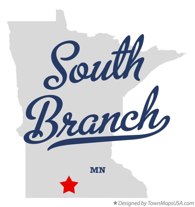 Map of South Branch Minnesota MN
