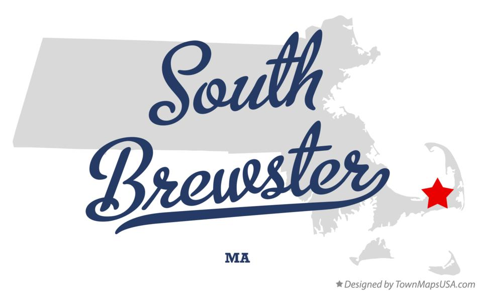 Map of South Brewster Massachusetts MA