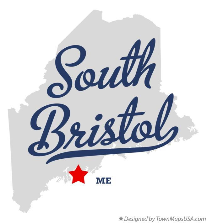 Map of South Bristol Maine ME