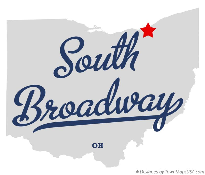 Map of South Broadway Ohio OH
