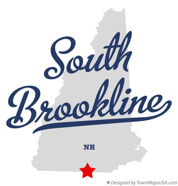 Map of South Brookline New Hampshire NH