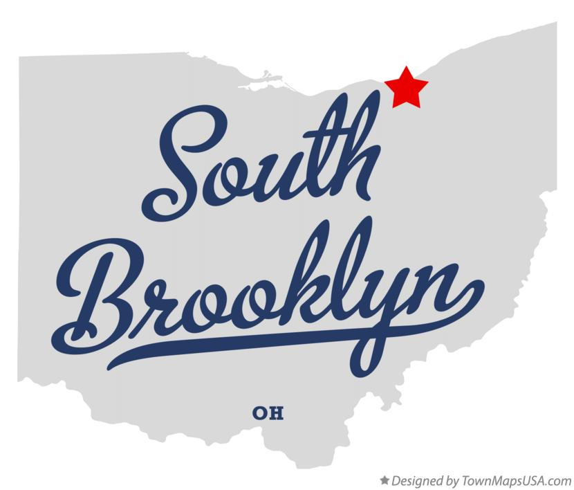 Map of South Brooklyn Ohio OH