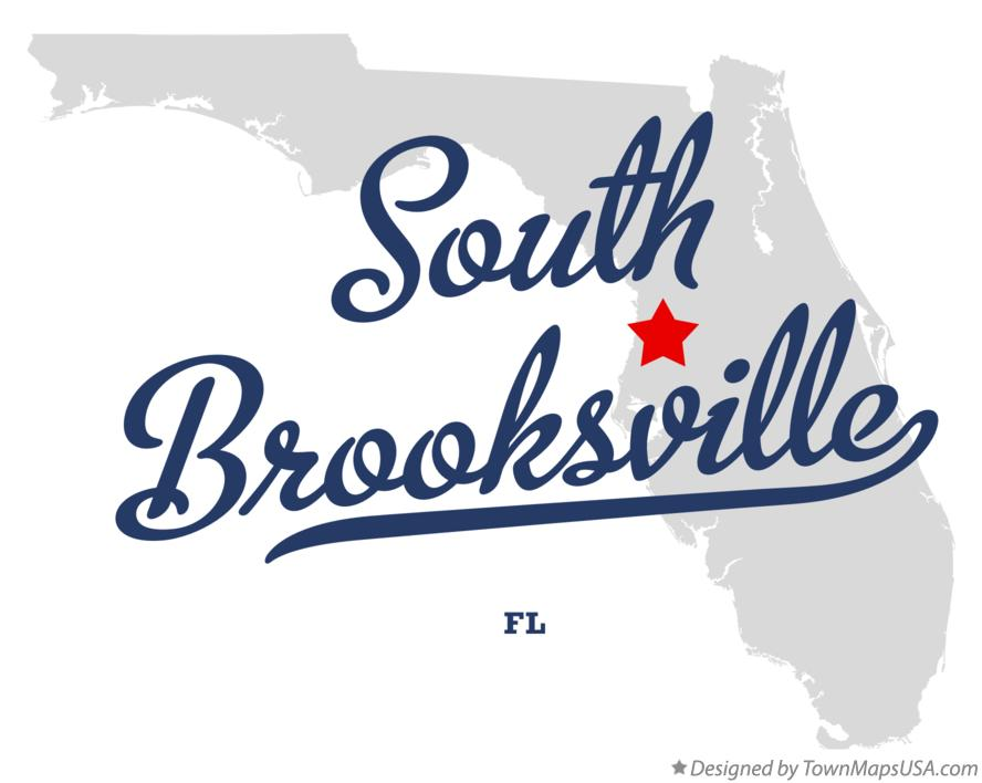 Map of South Brooksville Florida FL