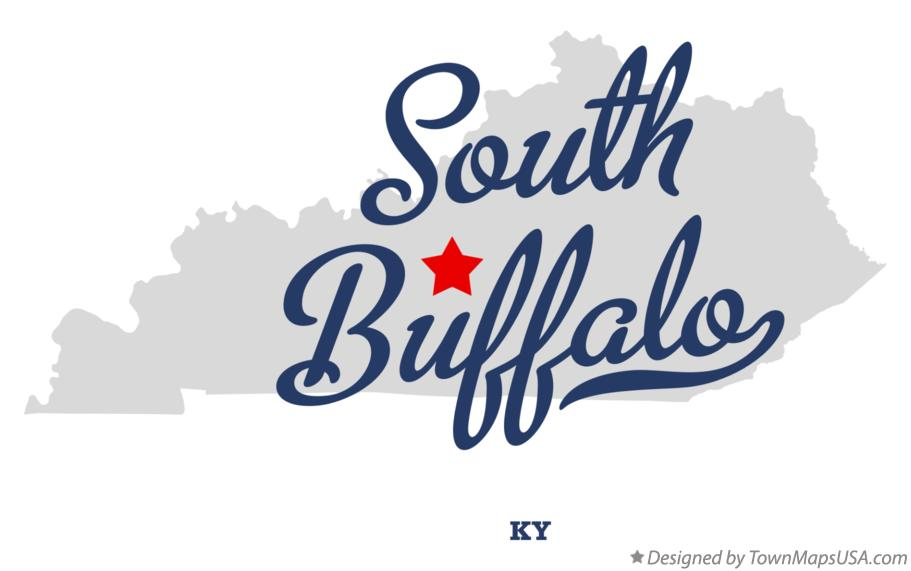 Map of South Buffalo Kentucky KY