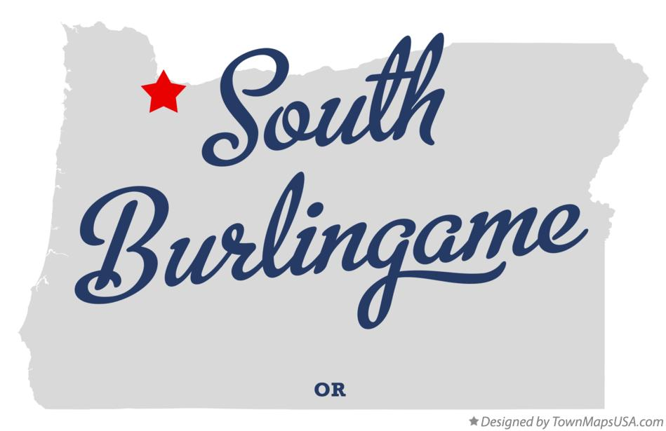 Map of South Burlingame Oregon OR