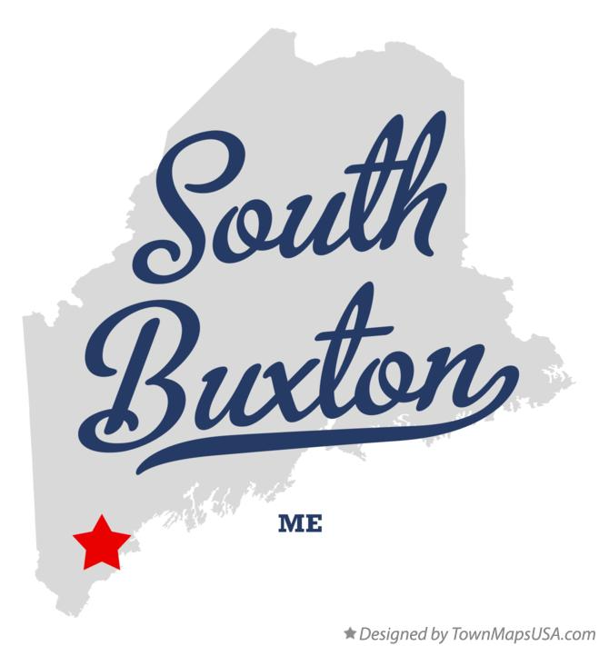 Map of South Buxton Maine ME
