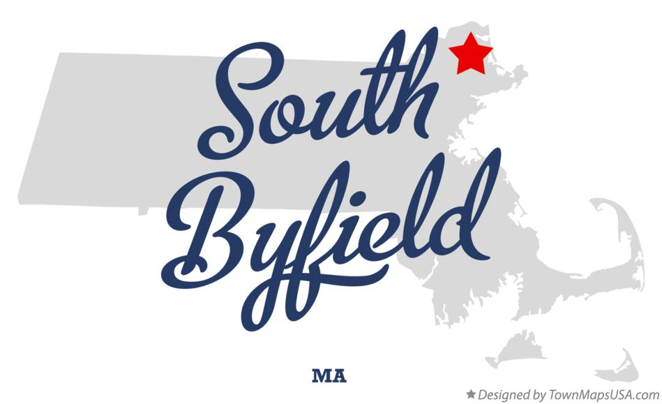 Map of South Byfield Massachusetts MA