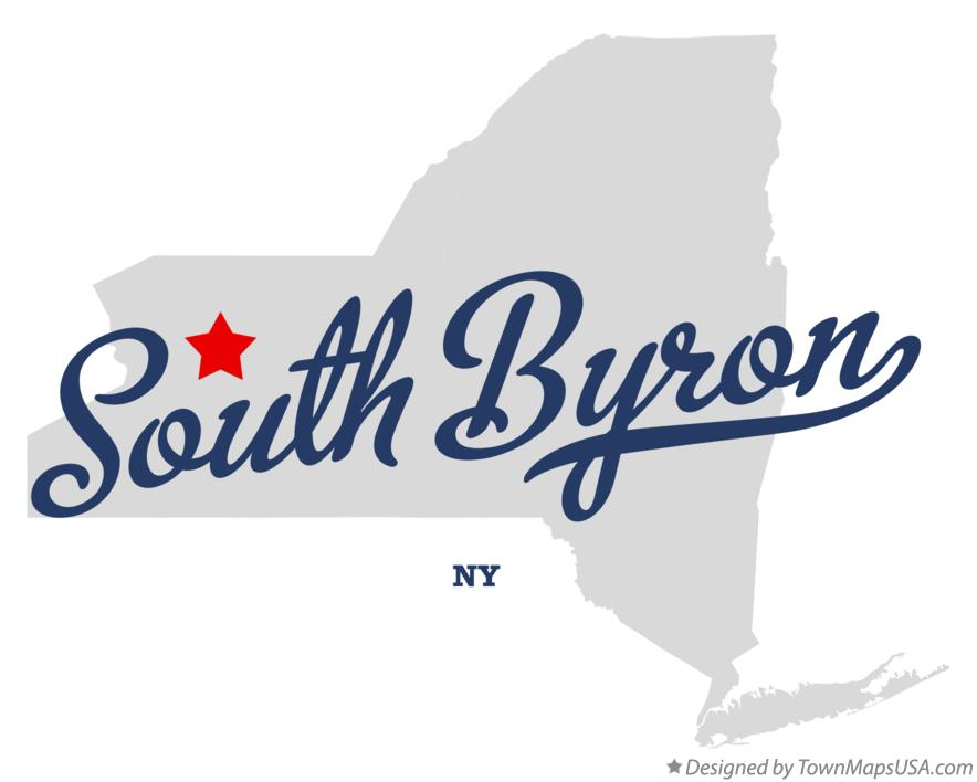 Map of South Byron New York NY
