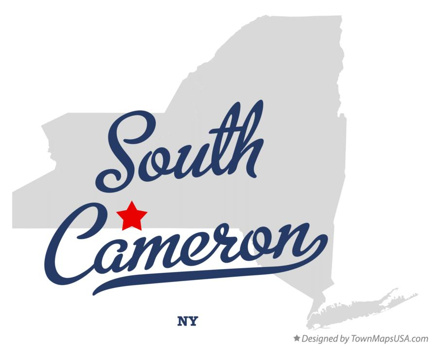 Map of South Cameron New York NY