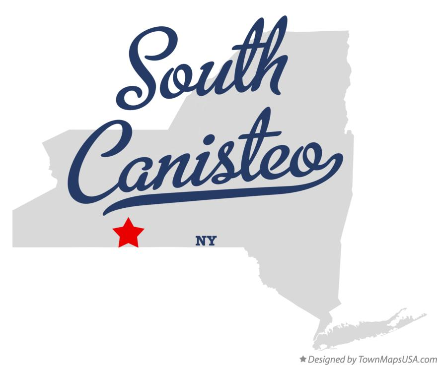 Map of South Canisteo New York NY