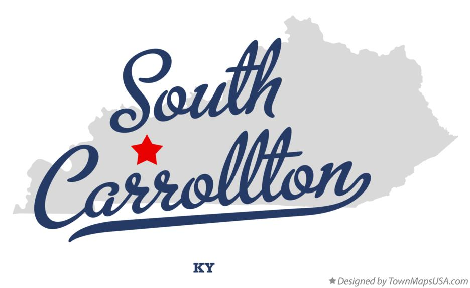 Map of South Carrollton Kentucky KY