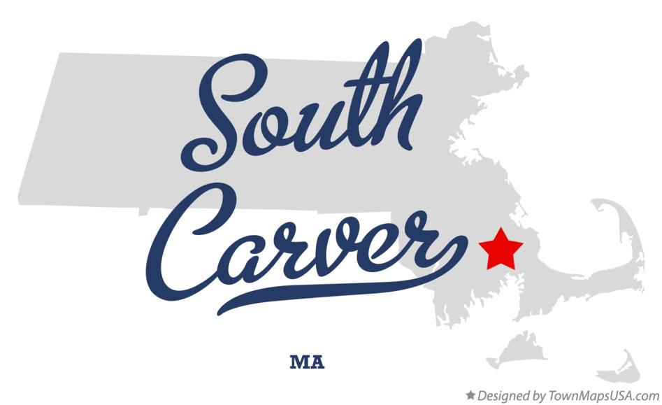 Map of South Carver Massachusetts MA