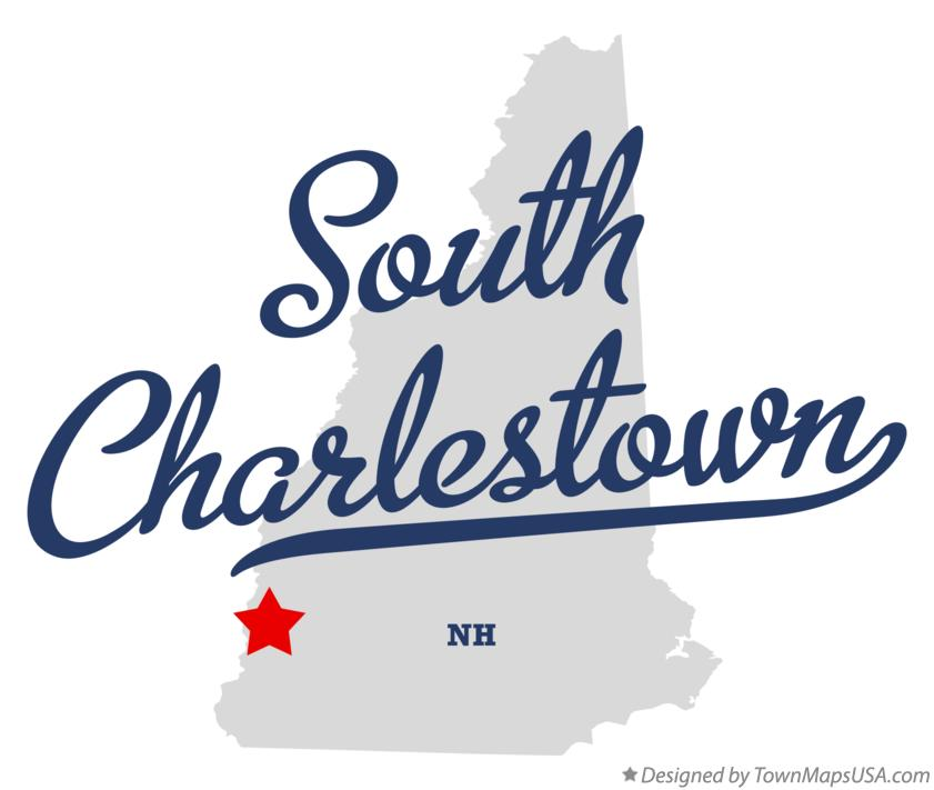 Map of South Charlestown New Hampshire NH